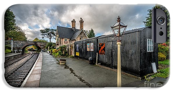 Carriage Digital iPhone Cases - Carrog Railway Station iPhone Case by Adrian Evans