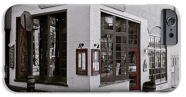 Alley Mixed Media iPhone Cases - Carrs Restaurant  iPhone Case by Trish Tritz