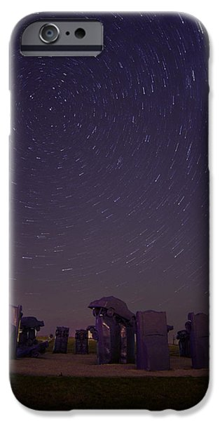 Star Alliance Photographs iPhone Cases - Cars and Stars iPhone Case by Kristal Kraft