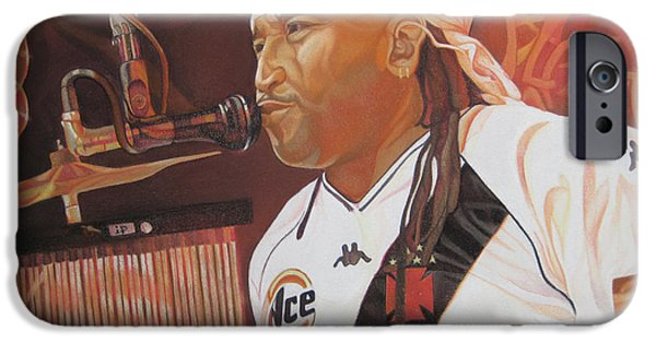 Rocks Drawings iPhone Cases - Carter Beauford at Red Rocks iPhone Case by Joshua Morton