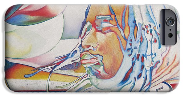Dave Drawings iPhone Cases - Carter Beauford Colorful Full Band Series iPhone Case by Joshua Morton