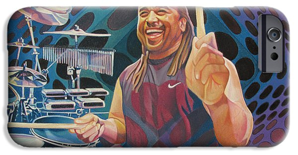 Dave Drawings iPhone Cases - Carter Beauford Pop-Op Series iPhone Case by Joshua Morton