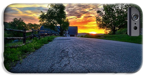 Kent Connecticut iPhone Cases - Carter Farm at Sunset HDR iPhone Case by Sabine Jacobs