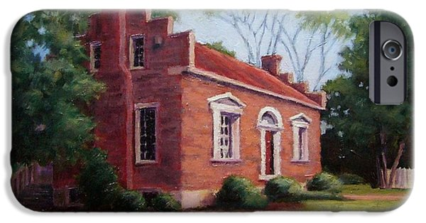 Pen And Ink Drawing Of Franklin Tennessee iPhone Cases - Carter House in Franklin Tennessee iPhone Case by Janet King