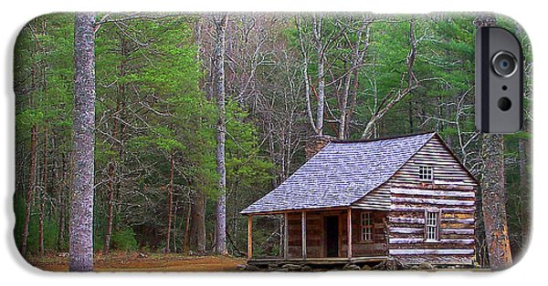 Tennessee Historic Site iPhone Cases - Carter Shields Cabin II iPhone Case by Jim Finch