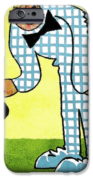 Cartoonist iPhone Cases - Cartoon 02 iPhone Case by Svetlana Sewell