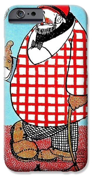 Cartoonist iPhone Cases - Cartoon 05 iPhone Case by Svetlana Sewell