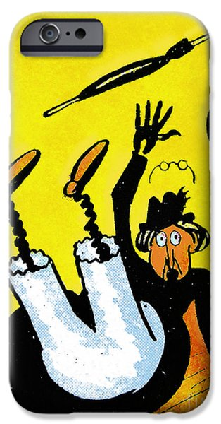 Cartoonist iPhone Cases - Cartoon 07 iPhone Case by Svetlana Sewell