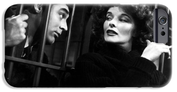 1950s Movies Photographs iPhone Cases - Cary Grant and Katherine Hepburn iPhone Case by Nomad Art And  Design