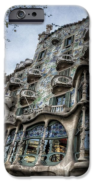 Balcony iPhone Cases - Casa Batllo Barcelona iPhone Case by Joan Carroll