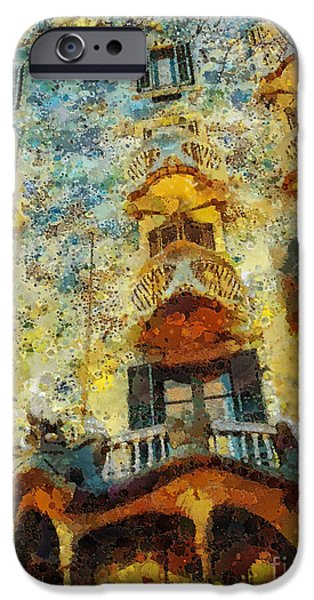 Mo T iPhone Cases - Casa Battlo iPhone Case by Mo T