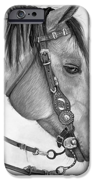 Horse Pastels iPhone Cases - Casa iPhone Case by Heather Gessell