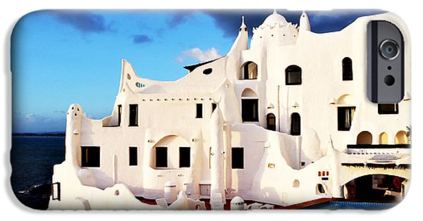 Rosen iPhone Cases - Casa Pueblo al Mar iPhone Case by Valerie Rosen