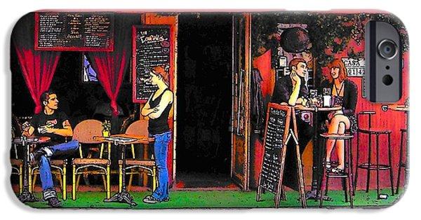 Table Wine Digital iPhone Cases - Casa San Pablo restaurant iPhone Case by Jan Matson