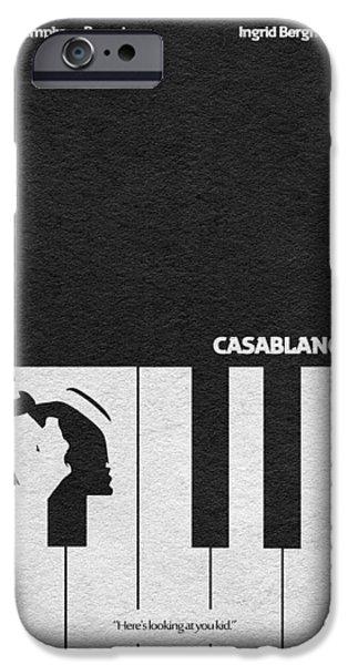 Geek Mixed Media iPhone Cases - Casablanca iPhone Case by Ayse Deniz