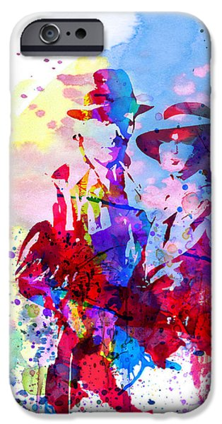 Actor Paintings iPhone Cases - Casablanca Watercolor iPhone Case by Naxart Studio