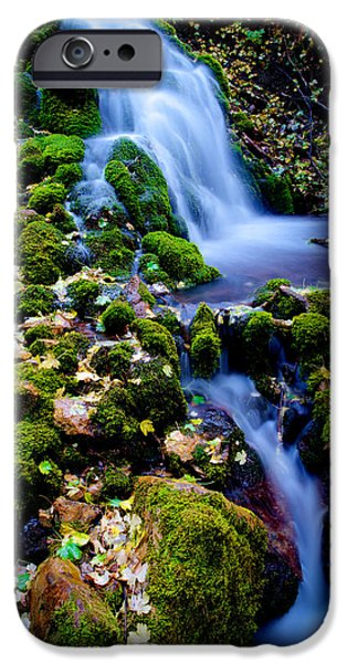 Fall Season iPhone Cases - Cascade Creek iPhone Case by Chad Dutson
