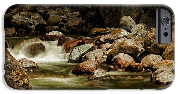 Blackstone River iPhone Cases - Cascade Creek - Mission B C iPhone Case by Jordan Blackstone