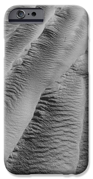 Sand Dunes Pyrography iPhone Cases - Cascade iPhone Case by Katarina Smelikova