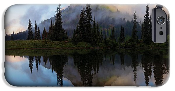 Mist iPhone Cases - Cascade Mirror iPhone Case by Mike  Dawson
