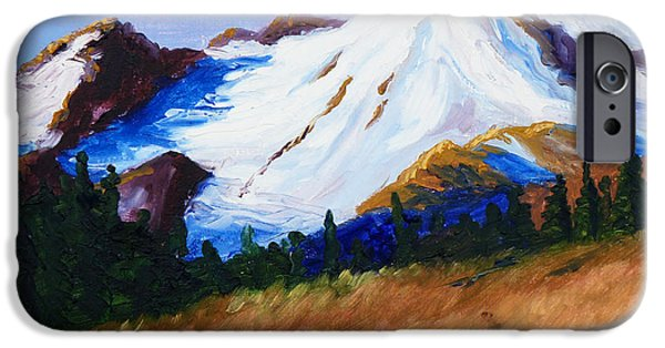 Business Paintings iPhone Cases - Cascade iPhone Case by Nancy Merkle