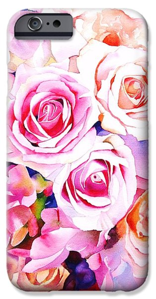Pink Roses iPhone Cases - Cascade iPhone Case by Sarah Bent