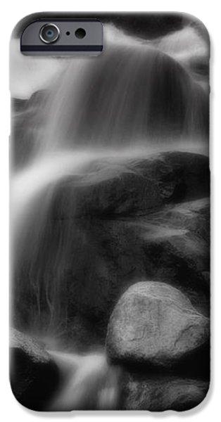 Cascades in Black and White iPhone Case by Ellen Heaverlo