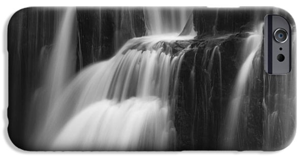 Autumn iPhone Cases - Cascades of Lower Lewis Falls iPhone Case by Mark Kiver