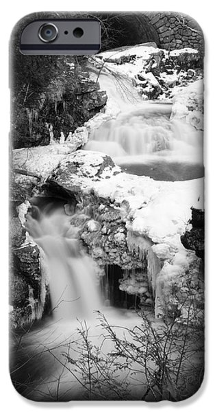 Snow iPhone Cases - Cascades of Velvet iPhone Case by Luke Moore
