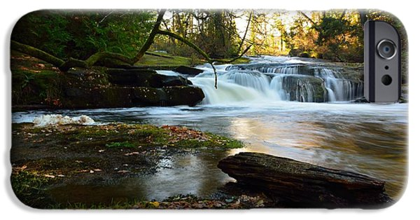 River View iPhone Cases - Cascading Millstone River iPhone Case by Elmar Langle