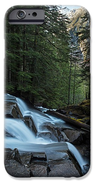 Fall iPhone Cases - Cascading Mountain Falls iPhone Case by Mike Reid