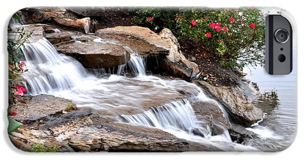Arkansas iPhone Cases - Cascading Water iPhone Case by Nava  Thompson