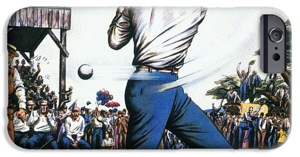 Casey iPhone Cases - Casey At The Bat, 1888 iPhone Case by Granger