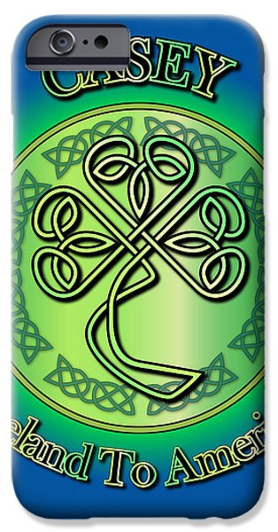 Casey Digital iPhone Cases - Casey Ireland to America iPhone Case by Ireland Calling