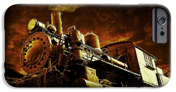 Casey iPhone Cases - Casey Jones and the Cannonball Express iPhone Case by Edward Fielding
