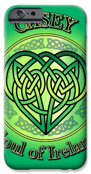 Casey Digital iPhone Cases - Casey Soul of Ireland iPhone Case by Ireland Calling