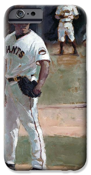 World Series Paintings iPhone Cases - Casilla Close iPhone Case by Darren Kerr
