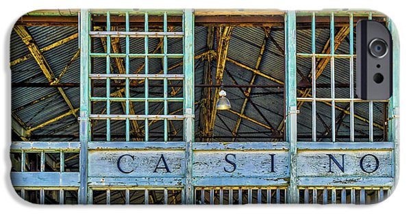 Asbury Park Casino iPhone Cases - Casino Asbury Park New Jersey iPhone Case by Susan Candelario