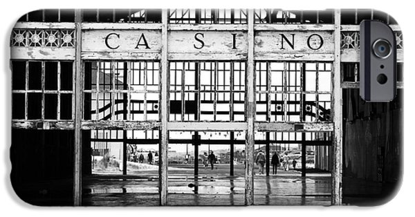 Asbury Park Casino iPhone Cases - Casino Entrance iPhone Case by John Rizzuto