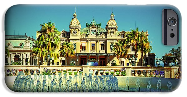 D.c. Pyrography iPhone Cases - Casino Monte Carlo iPhone Case by Steffen Schumann