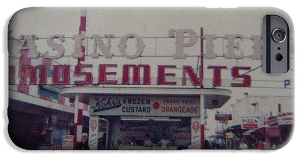 Casino Pier iPhone Cases - Casino Pier Amusements Seaside Heights NJ iPhone Case by Joann Renner