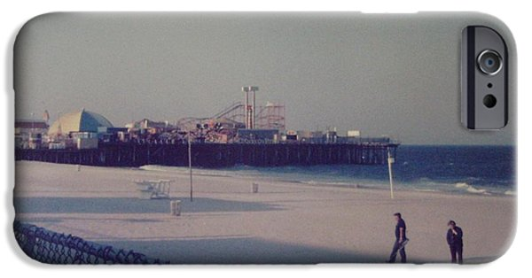 Jetstar Photographs iPhone Cases - Casino Pier Seaside Heights NJ iPhone Case by Joann Renner