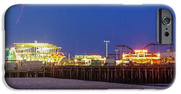 Casino Pier iPhone Cases - Casino Pier Seaside iPhone Case by Lucy Raos