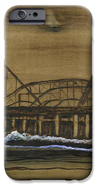 casino pier tribute iPhone Case by Ronnie Jackson