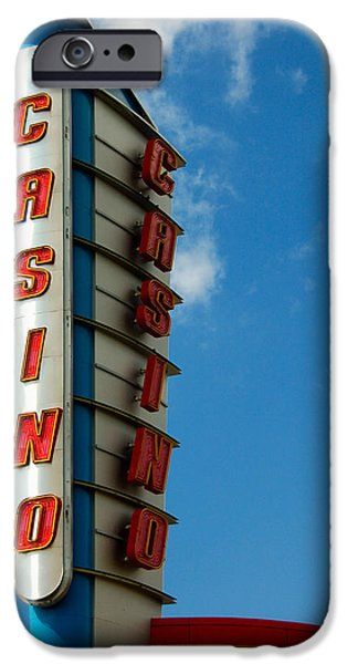 Casino Sign iPhone Case by Norman Pogson