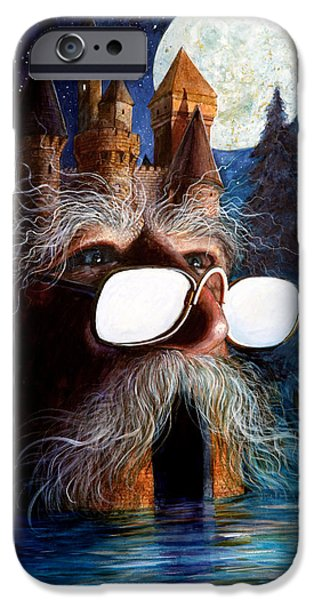 Creatures Paintings iPhone Cases - Casolgye iPhone Case by Frank Robert Dixon