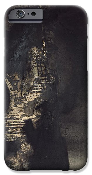 Storm iPhone Cases - Casquets Lighthouse iPhone Case by Victor Hugo