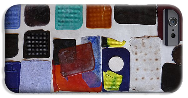 Abstract Reliefs iPhone Cases - Cast abstraction 1 iPhone Case by Mark Fearn