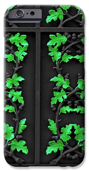 Grate iPhone Cases - Cast Iron Gate New Orleans iPhone Case by Christine Till