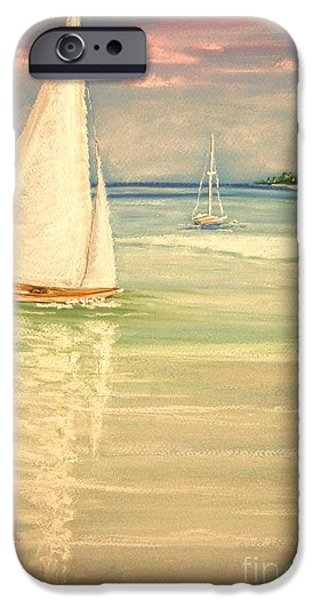 Sailing Pastels iPhone Cases - Castaway iPhone Case by The Beach  Dreamer